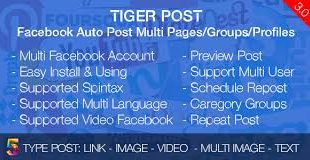 Tiger Post – Facebook Auto Post Multi Pages