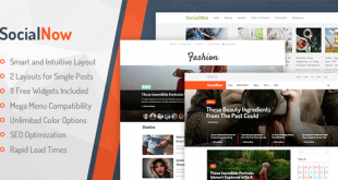 SocialNow WordPress Theme Free Download
